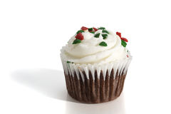 Christmas Cup Cake Royalty Free Stock Image