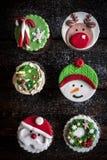 Christmas cup cake Royalty Free Stock Photos