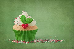 Christmas cup cake Royalty Free Stock Photography