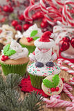 Christmas cup cakes Stock Photo