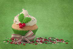 Christmas cup cakes Stock Photography