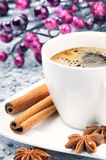 Christmas cup of coffee Royalty Free Stock Photo