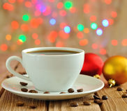 Christmas cup of coffee Royalty Free Stock Photography