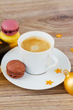 Christmas cup of coffee Royalty Free Stock Images