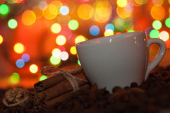 Christmas cup of coffee Royalty Free Stock Image