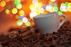 Christmas cup of coffee Royalty Free Stock Photos