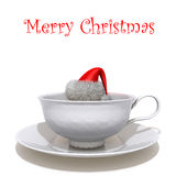 Christmas cup of coffee 3d illustration Stock Images