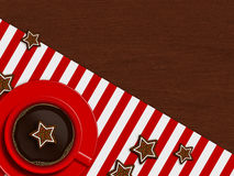 Christmas cup of coffee and gingerbread Royalty Free Stock Images