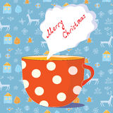 Christmas cup of tea Royalty Free Stock Photo