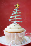 Christmas cupcake Royalty Free Stock Photography