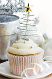 Christmas cupcake stock photography