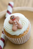 Christmas cupcake Stock Images