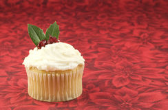 Christmas Cupcake Stock Photography