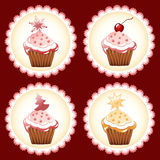 Christmas cupcake. vector illustration