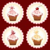 Christmas cupcake. Stock Images