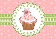 Christmas cupcake. Stock Photo