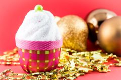 Christmas cupcake Stock Photos