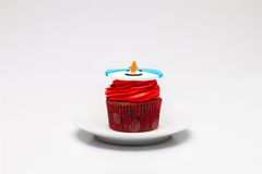 Christmas cupcake with butter cream icing on the Royalty Free Stock Images