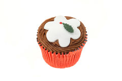Christmas cupcake Royalty Free Stock Images