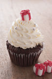 Christmas cupcake Stock Photo
