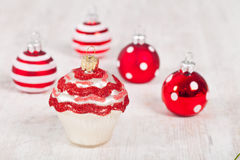 Christmas cupcake decoration Royalty Free Stock Photo