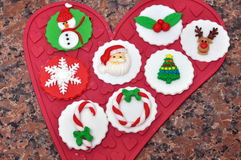 Christmas cupcake decorations Royalty Free Stock Photo