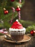 Christmas cupcake Stock Image