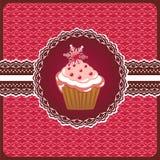 Christmas cupcake on the doily. Stock Photo