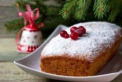 Christmas cupcake on the Christmas table. Shallow DOF royalty free stock photo