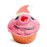 Christmas cupcake on white background Stock Photos