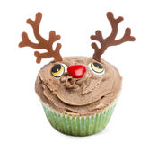 Christmas cupcake on white background Royalty Free Stock Photos