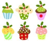 Christmas cupcakes Stock Image