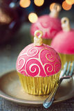Christmas cupcakes royalty free stock photos