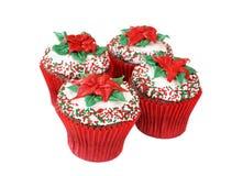 Christmas cupcakes stock photo