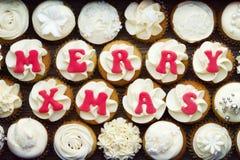 Christmas cupcakes Stock Photography
