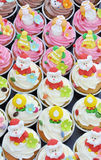 Christmas cupcakes. Stock Images