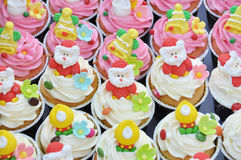 Christmas cupcakes. Royalty Free Stock Images