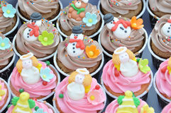 Christmas cupcakes. Royalty Free Stock Photos