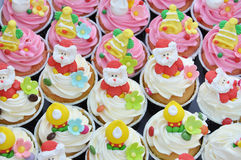 Christmas cupcakes. Stock Photos