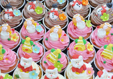 Christmas cupcakes. Royalty Free Stock Photography
