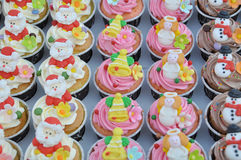 Christmas cupcakes. Stock Photo