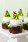 Christmas cupcakes royalty free stock images