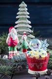 Christmas cupcakes Royalty Free Stock Photo