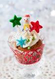 Christmas cupcakes Stock Photos
