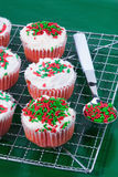 Christmas Cupcakes Stock Photography