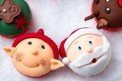 Christmas cupcakes Royalty Free Stock Image