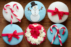 Christmas cupcakes Royalty Free Stock Photos