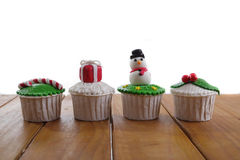 Christmas cupcakes Royalty Free Stock Image