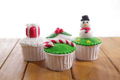Christmas cupcakes Royalty Free Stock Photo