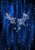 Christmas curtain background Stock Images